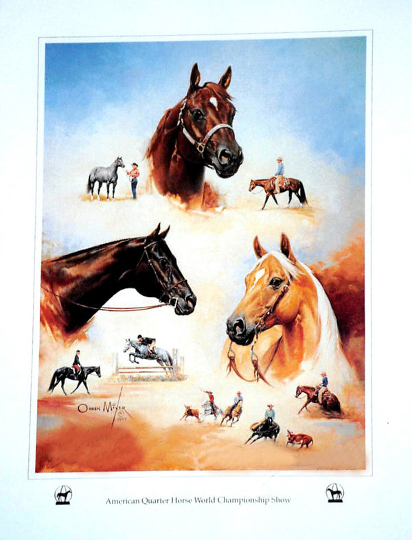 Versatility of the American Quarter Horse by Orren Mixer - Print