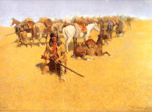Old Time Plains Fight - Frederic Remington