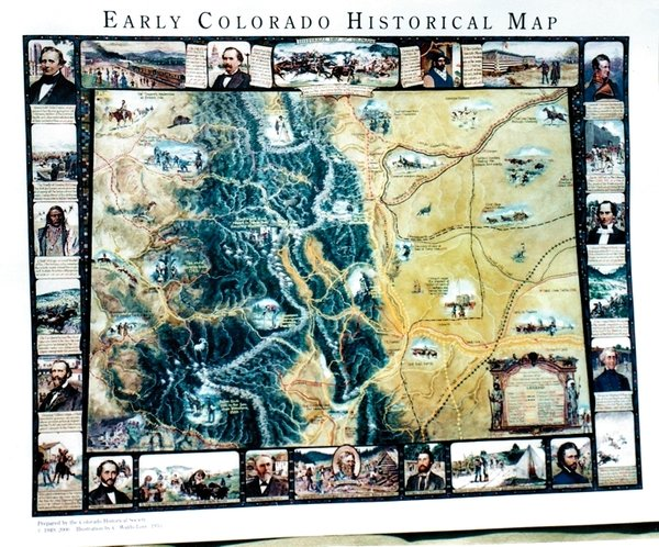 Early Colorado Historical Map