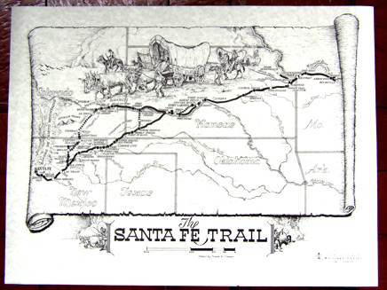 The Santa Fe Trail - Historical Map